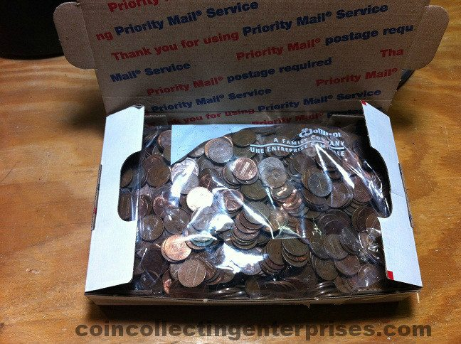 10 pounds copper pennies