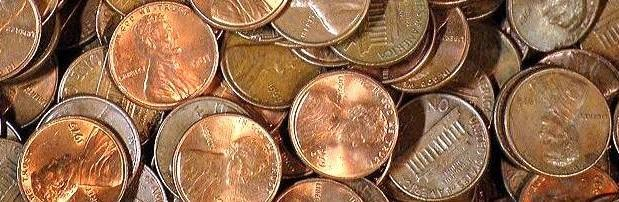 ton copper pennies